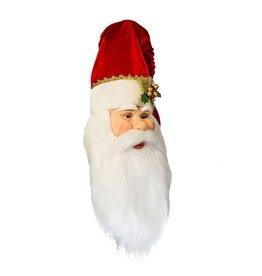 Kurt Adler Fabriche Santa Musical Santa Head Door Wall Hanger Infrared