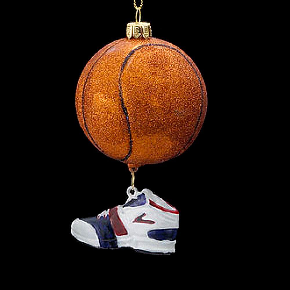 Kurt Adler Christmas Ornament Nobel Gems Glass Basketball w Shoe