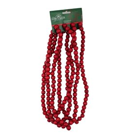 Kurt Adler Wooden Bead Garland 9FT Red