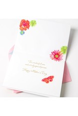 Papyrus Greetings Mothers Day Card Fresh Floral w Fabric Flower