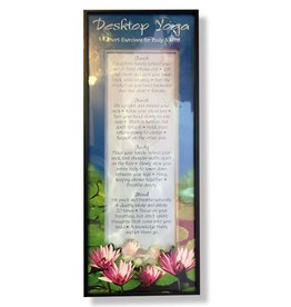 Portal Small Decorative Shadowbox Sign w Saying - Desktop Yoga