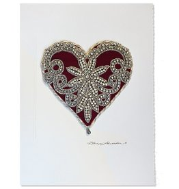 Constance Kay Art Card Heart w Crystals X-Large 12x9 inch