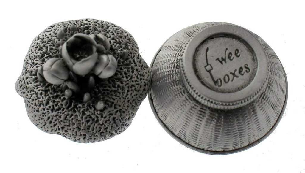 Wee Boxes Signs of Spring Flower Garden Tulips Pewter Trinket Box