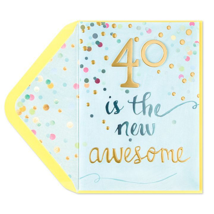 Papyrus Greetings Birthday Card 40 Is the New Awesome