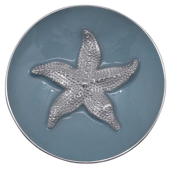 Mariposa Bowl 3445 Sea Blue Starfish Relief Bowl