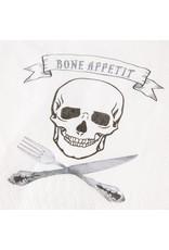 Papyrus Halloween Cocktail Napkins 20pk Bone Appetit Skull Knife Fork