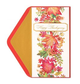 Papyrus Greetings Thanksgiving Card Autumn Leaves
