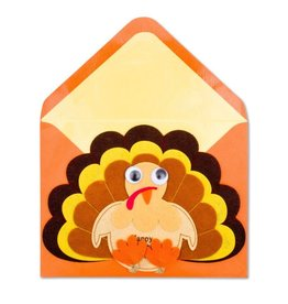 PAPYRUS® Thanksgiving Card Felt Happy Turkey Day