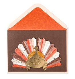 PAPYRUS® Thanksgiving Card Turkey W Pleated Tail