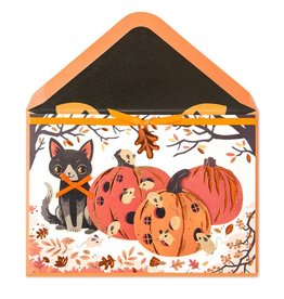 PAPYRUS® Halloween Card Cat n Mice Mouse Pumpkin Hotels