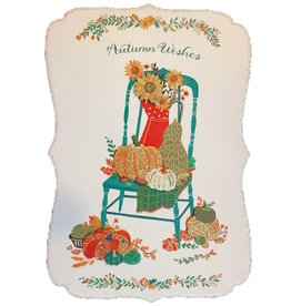 Papyrus Greetings Thanksgiving Card Fall Harvest Cartouche Autumn Wishes