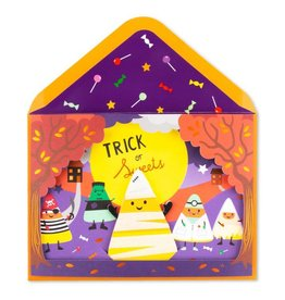 PAPYRUS® Halloween Card Candy Corn Puppet on Stage