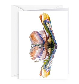 By The Seas-N Greetings Blank Note Card - Cash - Gift Card Holder - Pelican II