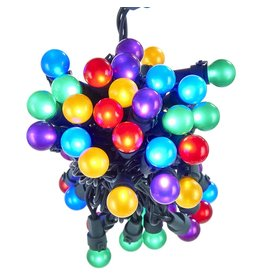 Kurt Adler UL 50-Light Multi-Colored LED Pearlized Ball Light Set