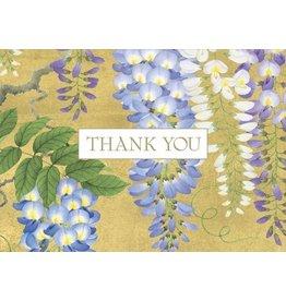 Caspari Wisteria Thank You Notes 8 cards with Envelopes