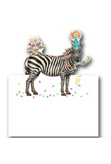 Caspari Table Place Cards Tent Style Party Animals 8pk