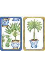 Caspari Playing Cards Bridge Cards 2 Decks - Potted Palms
