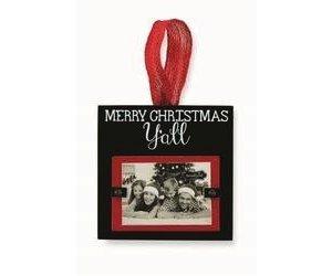 Merry Christmas Yall.Mud Pie Merry Christmas Y All Frame Ornament
