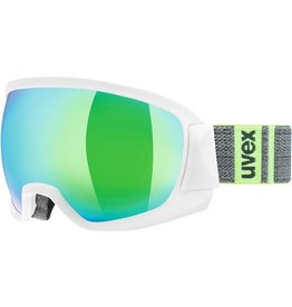 UVEX UVEX SKI GOGGLE CONTEST FM WHITE MIRROR GREEN CLEAR