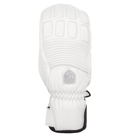 HESTRA HESTRA SKI GLOVE WOMEN'S LEATHER FALL LINE MITT WHITE