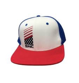 SYNC SYNC PERFORMANCE HAT SNAPBACK VORLAGE HAT RED/WHITE/BLUE USA