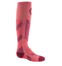 FARM TO FEET FARM TO FEET SKI SOCK KID'S PARK CITY - MIDWEIGHT CARMINE/ZINFANDEL