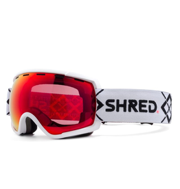 SHRED/SLYTECH SHRED 2020 SKI GOGGLE RARIFY BIGSHOW WHITE-CBL BLAST MIRROR (VLT 20%) + CBL SKY MIRROR (VLT 45%)