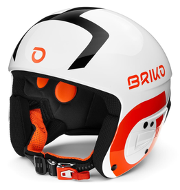 BRIKO BRIKO 2020 SKI HELMET VULCANO FIS 6.8 FLUID MULTI IMPACT WHITE BLACK ORANGE