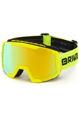 BRIKO BRIKO 2020 SKI GOGGLE LAVA FIS MATTE YELLOW FLURO YELLOW MIRROR CAT.2