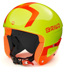 BRIKO BRIKO 2020 SKI HELMET VULCANO FIS 6.8 JUNIOR YELLOW ORANGE