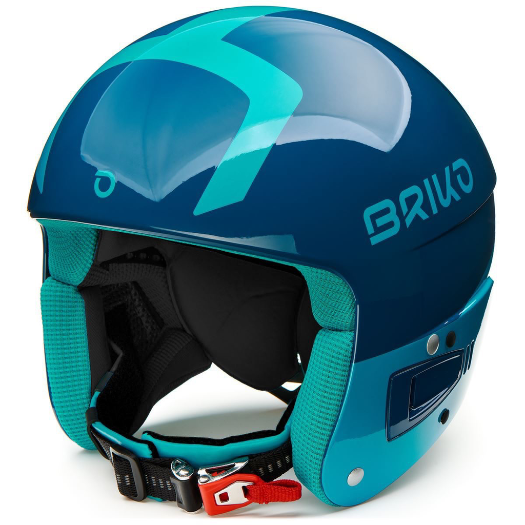 BRIKO BRIKO 2020 SKI HELMET VULCANO FIS 6.8 JUNIOR SHINY BLUE LIGHT BLUE