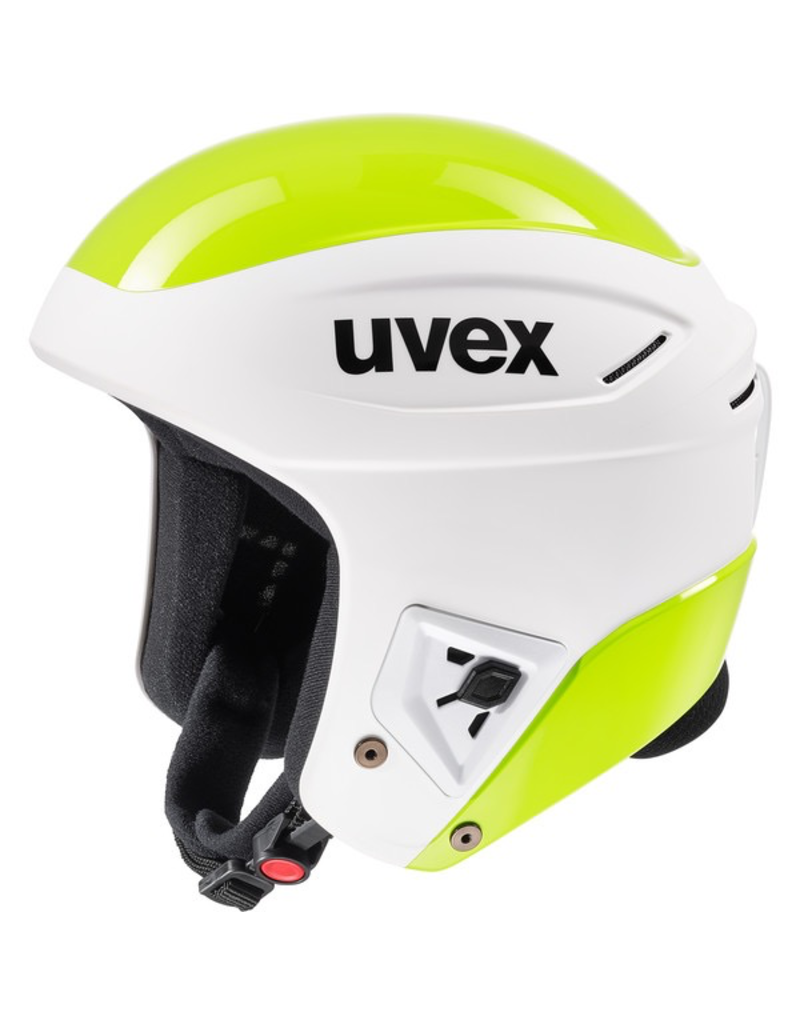 UVEX UVEX SKI HELMET RACE + FIS WHITE/LIME