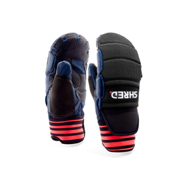SHRED/SLYTECH SHRED SKI GLOVE RACE PROTECTIVE MITTENS D-LUX NAVY/RUST