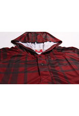 HASKILL RED PLAID HOODED BASELAYER