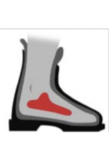 "SKI KARE SKI BOOT PAD NARROWING PADS 1/8"" FIRM FOAM 1SET"