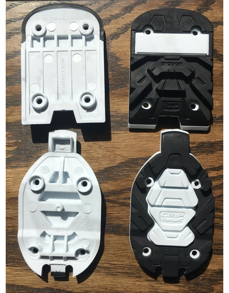 ROXA ROXA REPLACEMENT TOE/HEEL R3 GRIPWALK SOLES BLACK/WHITE