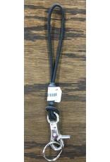 SNOWBOARD LEASH NYLON CORD W/ CLIP BLACK