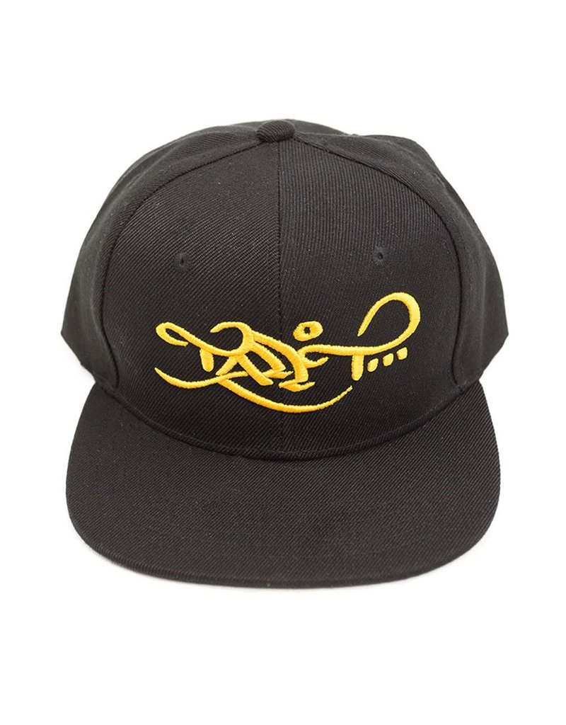 TALL T PRODUCTIONS TALL T PRODUCTION SNAPBACK HAT LOGO BLACK/GOLD