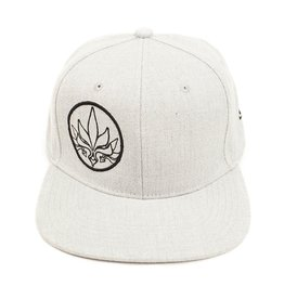 TALL T PRODUCTIONS TALL T PRODUCTION SNAPBACK HAT STAMP LIGHT GREY/BLACK