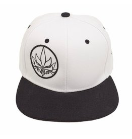 TALL T PRODUCTIONS TALL T PRODUCTION SNAPBACK HAT STAMP WHITE/BLACK/BLACK
