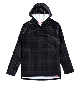 HASKILL HASKILL BLACK PLAID HOODED BASELAYER