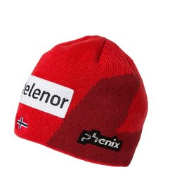 PHENIX PHENIX BEANIE NORWAY ALPINE TEAM JUNIOR KNIT LOGO RED