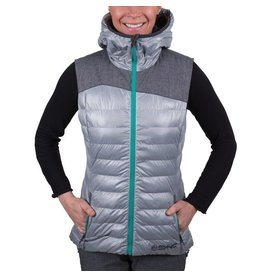 SYNC SYNC PERFORMANCE SKI JACKET WOMENS PUFFY VEST LT. GREY