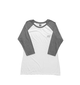 K2 SPORTS K2 BASEBALL TEE WOMEN SHITE/GREY