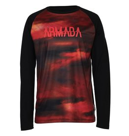ARMADA ARMADA LAYER CONTRA CREW L/S TOP RED RESIN