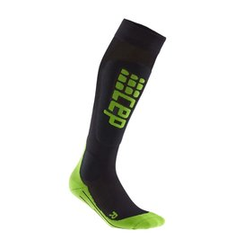 CEP CEP COMPRESSION ULTRALIGHT SKI SOCKS MENS BLACK/GREEN