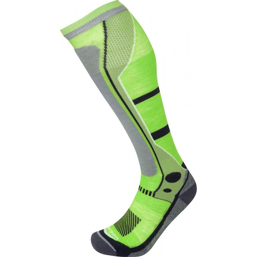 LORPEN LORPEN SKI SOCK MENS T3 SKI LIGHT GREEN/LIME