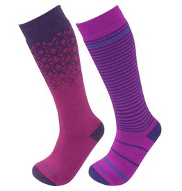 LORPEN SKI SOCK KIDS T2 MERINO 2 PAIR BERRY