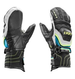 LEKI LEKI 2018 SKI GLOVE WC RACE FLEX S MITT JUNIOR BLACK/CYAN