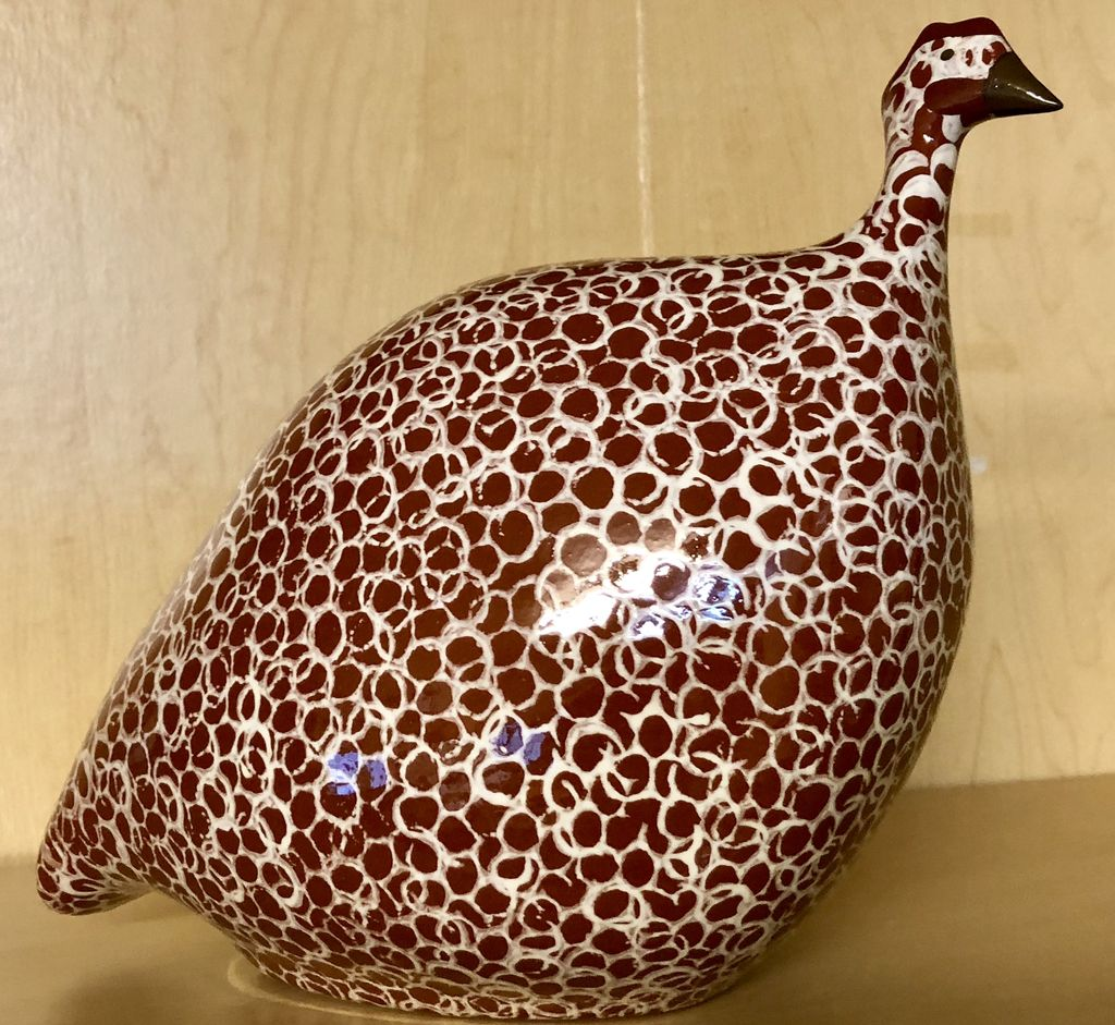 SAS Caillard Deco Guinea Fowl Red Spotted White MM